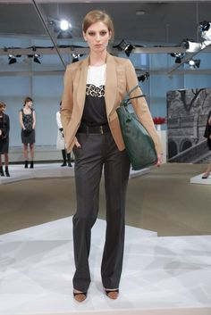 Ann Taylor Fall 2013 Collection - Camel and grey