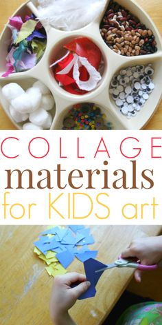 Collage Materials and Supplies for Kids Art