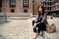 Lovely Pepa in Zara and Vero Moda - bomber, jumpsuit and flats