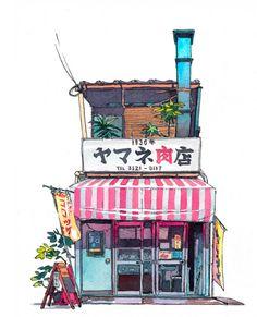 今天要介紹的是來自波蘭的插畫師 Mateusz Urbanowicz ,他在日本神戶設計大學獲得碩士學位,目前任職於東京的Comix Wave Films animation studio,擔任動畫背景製作。他的畫風頻頻讓我想起宮崎駿,水彩畫風中使用了非常舒服的暖色系。看得出來是一位對生活中細微小事都非常細心的插畫家。