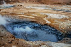 """Hverir Geothermal Site - Mývatn  © Jan Vrsinsky @ janvrsinsky.com  """"The solfatare/fumarole field Hverir (Hverarond) is one of the largest of Iceland and is the easiest one to reach by car.   Solfatares are openings in the earth's crust trough which sulfurous vapors rise up."""" (sanmarkotravel.com)"""