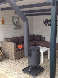 Outdoor Wood Burner, Outdoor Stove, Outdoor Fire, House Deck, House With Porch, Backyard Garden Design, Backyard Patio, Porches, Patio Enclosures