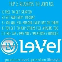 5 reasons to build a THRIVING business with Le-Vel