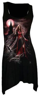 Spiral Direct - Blood Moon - Goth Bottom Viscose Vest Top [AS135234] - £15.29 :