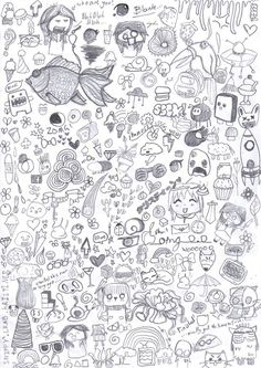25 Most Creative Examples of Doodle Art Doodle Drawings, Doodle Art, Random Drawings, Heart Doodle, Art And Illustration, Doodle Inspiration, Doodle Ideas, Doodles Zentangles, Zentangle Patterns