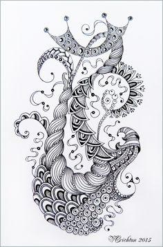 Viktoriya Crichton_Ukraine Nikolaev_Zentangle, graphic, hand-made, pattern, tangle