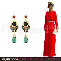 Nuestros espectaculares pendientes Ankara son una pieza de bisutería que querrás tener a toda costa ★ 13,95 € en https://www.conjuntados.com/es/pendientes-ankara-con-piedra-verde.html ★ #novedades #pendientes #earrings #conjuntados #conjuntada #joyitas #lowcost #jewelry #bisutería #bijoux #accesorios #complementos #moda #eventos #bodas #wedding #party #invitadaperfecta #fashion #fashionadicct #picoftheday #outfit #estilo #style #GustosParaTodas #ParaTodosLosGustos