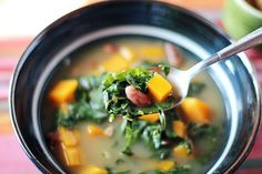 Recipe: Bean, Bacon and Butternut Squash Soup with Swiss Chard — Recipes From The Kitchn