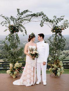 Scenic hilltop wedding