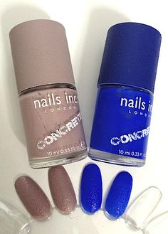 Nail Polish Trends, Review, Swatches: Nails Inc. London Concrete Polish: New Textures & Finishes #bstat