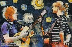 """Taylor Swift Painting / Ed Sheeran Impressionist Painting Welcome to my painting of Ed Sheeran and taylorswift which I am calling """"Starry Serenade"""". Here is the story behind the painting. I converted. Taylor Swift Red Album, Taylor Swift Songs, Taylor Alison Swift, Songs With Meaning, Everything Has Change, Rock In Rio, Impressionist Paintings, Cheap Wedding Dress, Wedding Dresses"""