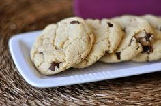 These egg-free chocolate chip cookies are wonderfully soft and chewy. Cream cheese makes up the base of the dough (acting as a substitution for the eggs).