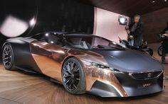 2012 Paris: Peugeot Onyx Supercar Concept is the Raw Deal, futuristic design