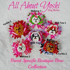 Dog Bow Mini Me Boutique Dog Bow by AllAboutYoshi on Etsy