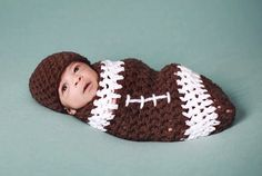 Football Themed Baby Costume!  #halloween #adorable #football #costume