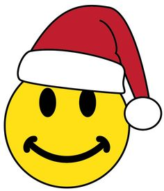 smiley face happy santa claus face emoticon wearing santa hat rh pinterest co uk Yummy Smiley Face Clip Art happy face christmas clip art