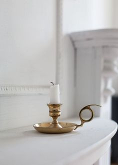 So pretty! Vintage brass candle holder
