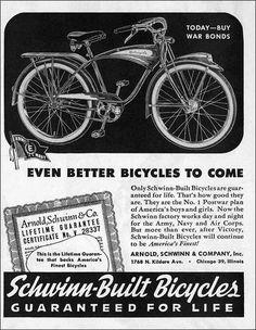 Beautiful Schwinn Ads Through The Years