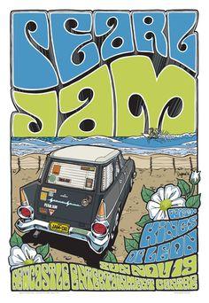 PEARL JAM  Entertainment Centre Newcastle, 2006 Beach Poster