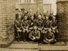 This grainy image, taken in August 1919, shows some of the codebreakers