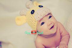 Crochet Baby Hat Beanie Giraffe - Any Size - Ready to Ship - USA Overnight Shipping. $18.00, via Etsy.