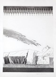 David Hockney (British, b.1937) Cold Water about to Hit the Prince, from Six Fairy Tales from the Brothers Grimm,1969, etching and aquatint 38.5cm x 27cm (sheet 45cm x 31cm) Estimate: £1,500 - 2,500