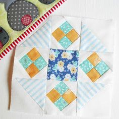On this page you will find every block I have made from Laurie Hird's Farmer's Wife 1930s Sampler Quilt  book. If there is no photo ass...