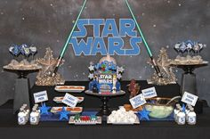 Star Wars Party Centerpiece - Birthday - DIY Printable Star Wars inspired - Amanda's Parties To Go. $9.00, via Etsy.