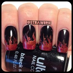 drag marble flame nails by - @Hannah Barber- #webstagram