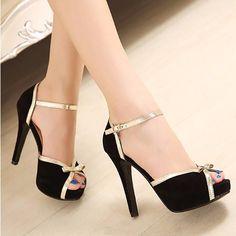 Giày cao gót hở mũi nơ nhỏ - LN765 4