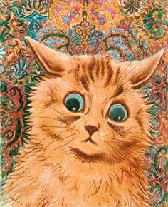 crazy face Louis Wain. Weird guy obsessed with cats.