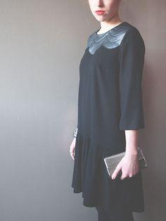 Patron de robe de fêtes avec empiècement matelassé : Robe Viviane, du 34 au 46, par République du Chiffon