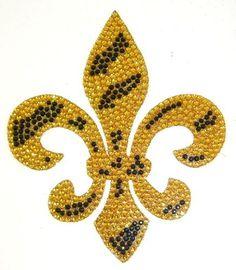 Gold Zebra Fleur De Lis Crystal Rhinestone Removable Decal Sticker by Crystal Case, http://www.amazon.com/dp/B00795SHKY/ref=cm_sw_r_pi_dp_47Evrb1DA77GM