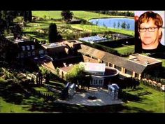 homes of the rich and famous - Elton John Celebrity Mansions, Celebrity Houses, Mega Mansions, Mansions Homes, Teen Celebrities, Celebrities Homes, American Mansions, Pool Shapes, Hollywood Homes
