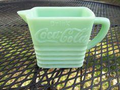 Vintage Jadeite Coca Cola Little Pitcher