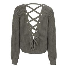 c1f337c133 Sexy Backless Knitted Pullover. Casual Tops For WomenLace SweaterBackless  ...