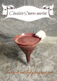 Dessert treats: Chocolate S'mores martini