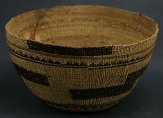 California Native American Indian Baskets - Hupa basket