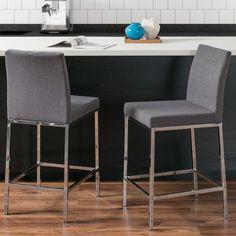 Orren Ellis Onya Bar Stool Upholstery: Gray
