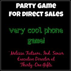 Party Game for Direct Sales consultants, easy phone game!