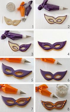Masquerade Cakes, Masquerade Party Decorations, Mardi Gras Food, Mardi Gras Party, Iced Cookies, Easter Cookies, Carnival Cakes, Cookie Tutorials, Cookie Icing