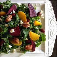 Organic Kale  Roasted Beet Salad