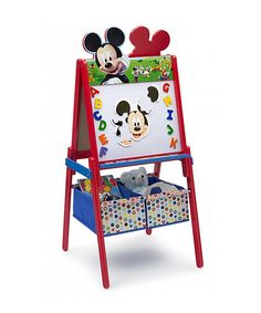 This Double-Sided Mickey Mouse Activity Easel by Mickey Mouse & Minnie Mouse is perfect! #zulilyfinds