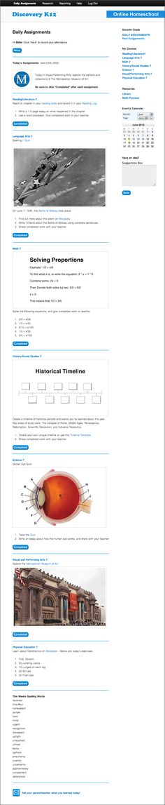 Waldorf ~ Curriculum ~ Resource ~ An overview of the curriculum - sample historical timeline
