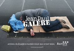 Les grandes marques de luxe détournées pour parler des sans abri// Association Aurore// France