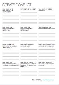 3-page writing worksheet to help you create, compound and resolve conflicts in your stories. > http:∕∕eadeverell.com∕writing-worksheet-wednesday-conflict∕?utm_content=buffera8518&utm_medium=social&utm_source=pinterest.com&utm_campaign=buffer