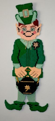 Vintage St. Patrick's Day Leprechaun with Green Suit and Pot of Gold! by AmoreDolce, $15.00