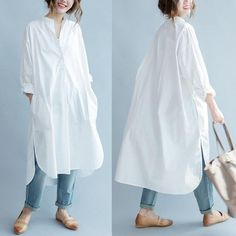 Many more like this can be found at the website! Give it a look for what we pick best for each category!DIMANAF Women Blouse Plus Size Autumn Cotton Long Blouse Solid O-Neck Split Casual Fashion Loose White Elegant Female Blouse Oversized Button Down Shirt, Button Down Shirt Dress, Long Sleeve Shirt Dress, Blouse Dress, Oversized White Shirt, Oversized Dress, Dress Shirts For Women, Blouses For Women, Long Shirt Outfits