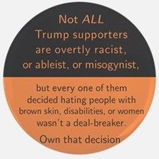 Trump Supporters Button for