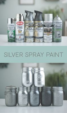 Silver spray paint colors, Rustoleum and Krylon. #Rustoleum #Krylon #DIYspraypainting